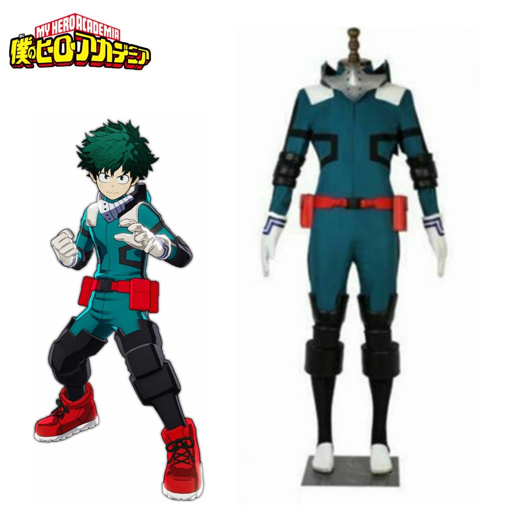 My Hero Academia Cosplay Midoriya Izuku Deku Battle Cosplay Costume Unisex Costume Set