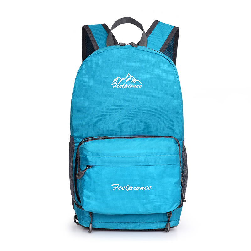 Outdoor Light Casual Folding Backpack Shoulder Breathable Nylon Couples School Bag Foldable Backpack