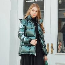 Women's Down Jacket Hood Down Coat Women Jacket Plus Size Parka Winter Puffer Jacket Coat Warm Oversize Lady Down Jackets color block detachable hood puffer jacket