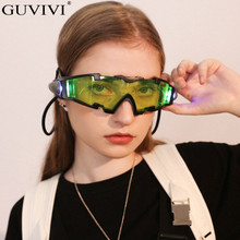 Night Light Goggles Sunglasses Women Vintage Clout Goggles Sunglasses