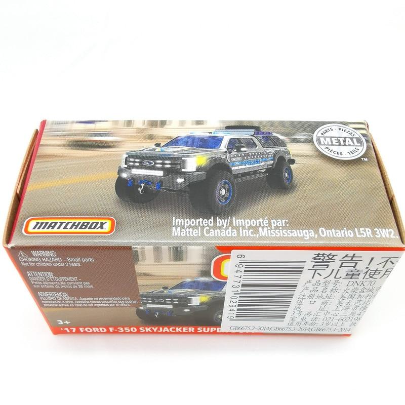 2019 Matchbox Cars 1:64 Car17 FORD F-350 SKYJACKER SUPER DUTY Metal Diecast Alloy Model Car Toy Vehicles