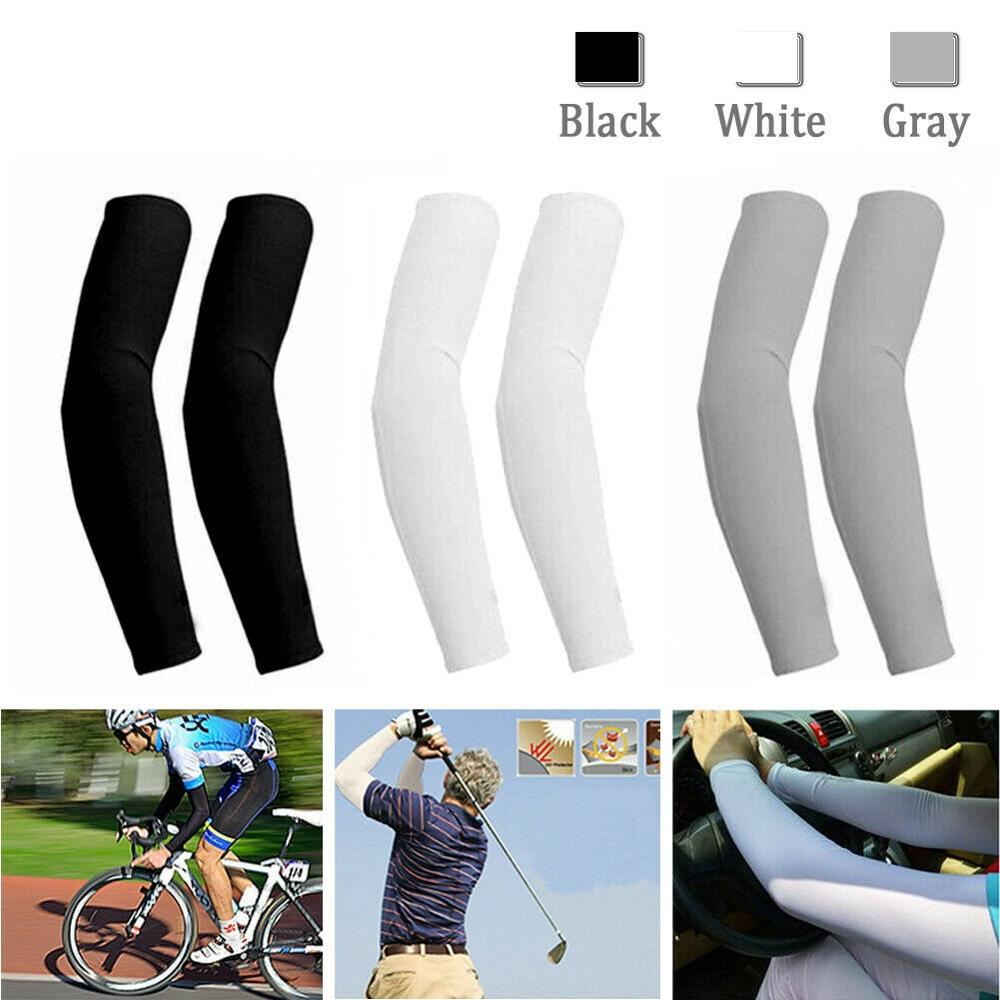 Sports Summer Warmers Arm Sleeves Sun Uv Protection Men Women Cycling Mountain Camping Outdoor Running Cool Sleeves 1-5 Pairs