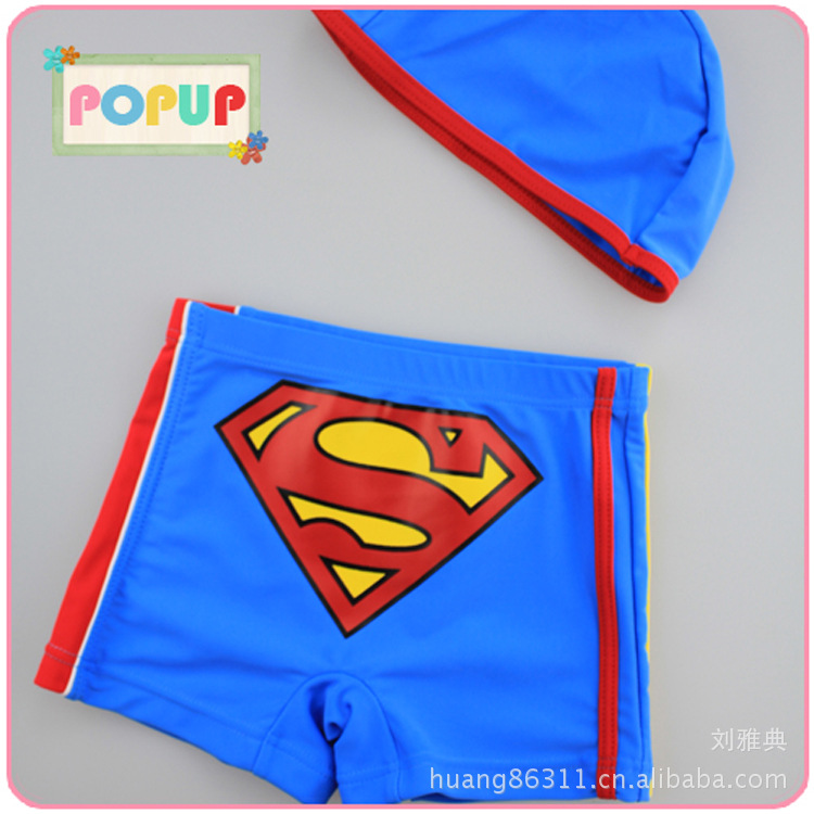 Popup Spring Summer Hot Selling Superman AussieBum Kids Swimsuit Creative KID'S Swimwear