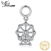 JewelryPalace Ferris Wheel 925 Sterling Silver Charm Fit Bracelets Gifts For Women New Fashion Jewelry
