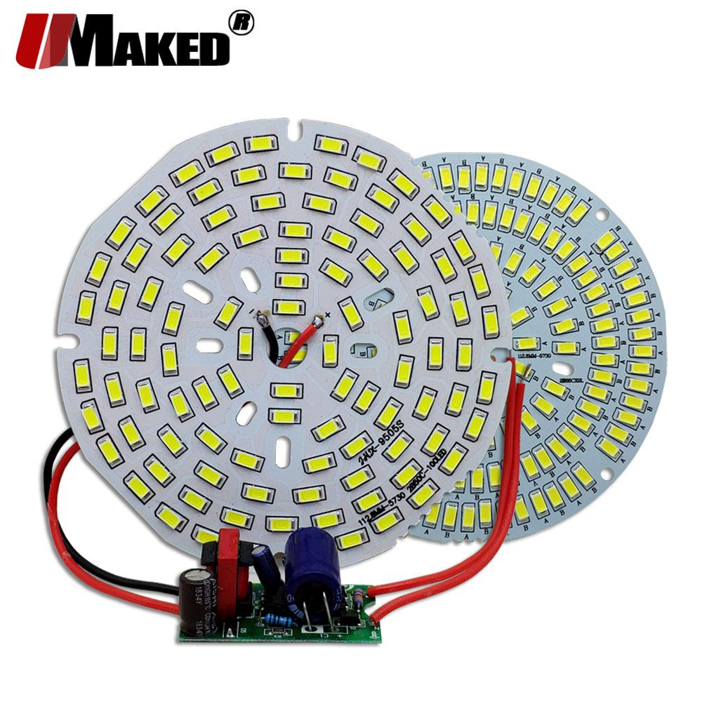 2Set LED PCB+Driver Kit SMD5730 Supper Bright Light Source Aluminum Lamp Plate 18W 30W 50W 70W 100W Diy Bulb Downlight Bay Light