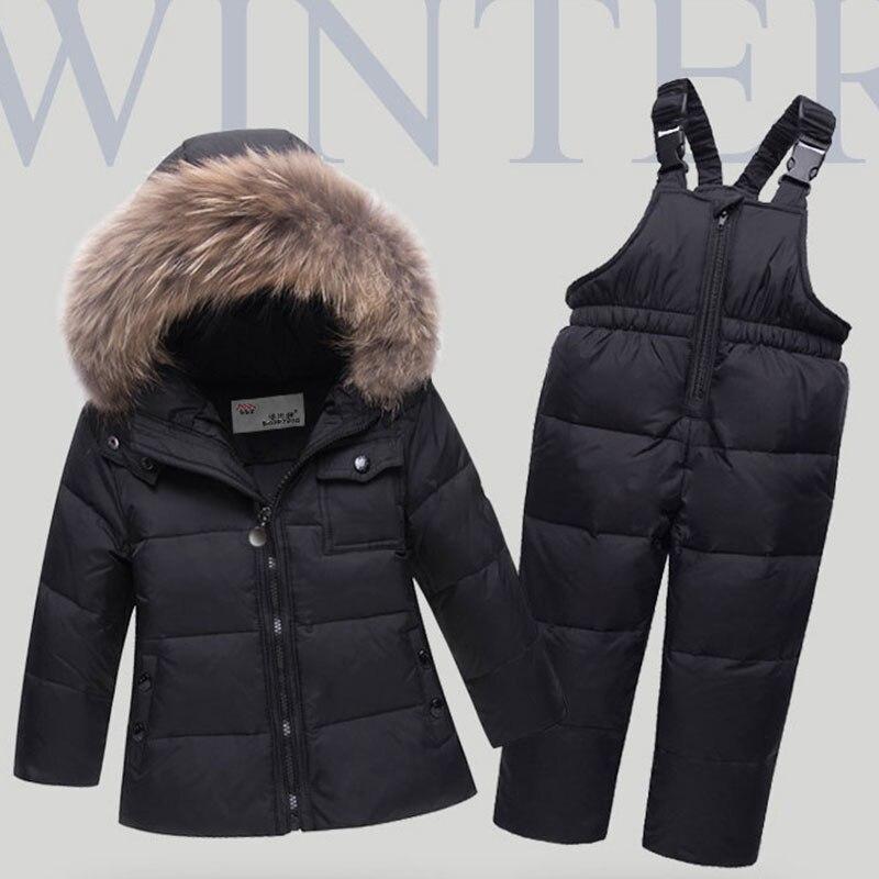Nouveau bébé bébé hiver manteau Snowsuit canard vers le bas filles en bas âge tenues d'hiver neige porter combinaison Bowknot à pois Hoodies veste
