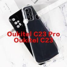 Soft Black TPU Caso Para Caso Coque C19 Oukitel Ultra Fino Caso de Telefone Transparente Para Oukitel C19 Pro Capa de Silicone tampa traseira