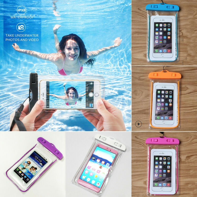 2020 Newest Luminou Waterproof Phone Case Anti-Water Pouch Dry Bag Cover Swimming Bags for Cell Phone