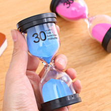 Desktop Sand Clock Timer 10 Minutes / 15 Minutes / 30 Minutes Children's Brushing Striking Hourglass Timer Home Decorations