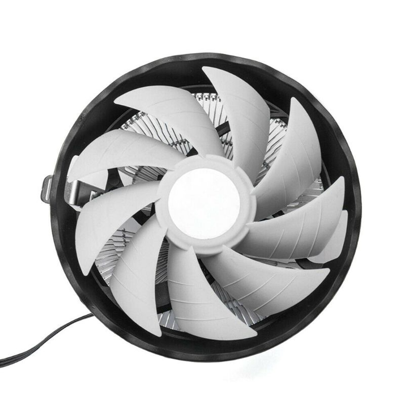 RGB LED Colorful Light Heatsink Fan Silent <font><b>CPU</b></font> <font><b>Cooler</b></font> Cooling Fan for INtel LGA 775/1155/<font><b>1156</b></font> Amd AM2/AM3 Series Desktop Compute image