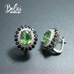 Bolai jewelry, created 925 sterling silver color changing earrings, exquisite design is girls daily wear accessories
