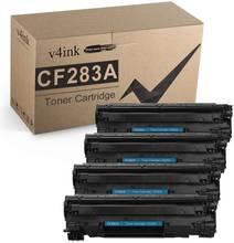 Тонер картридж v4ink 4pk совместимый с cf283a для hp laserjet