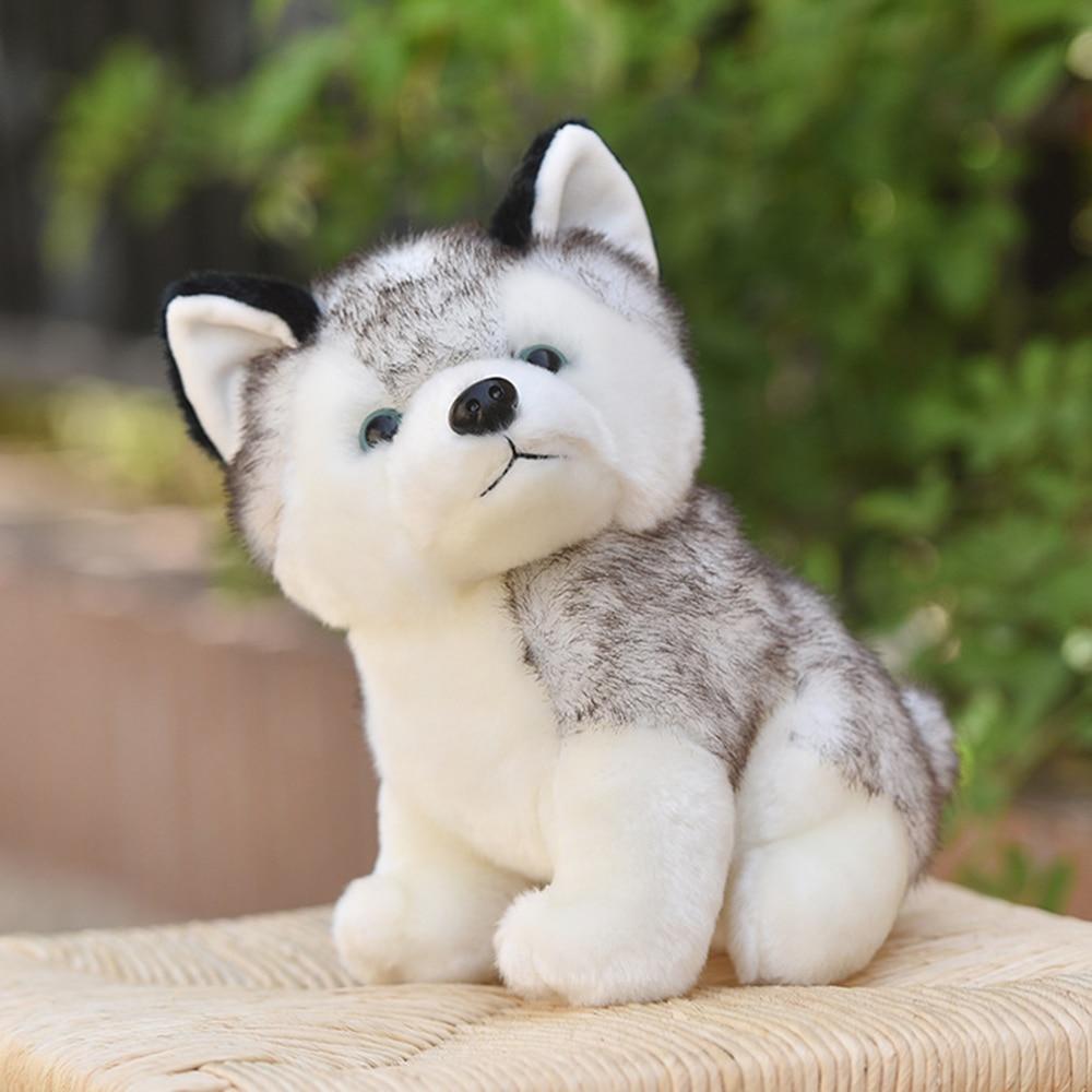 Realistic Husky Dog Plush Toy Stuffed Animal Soft Wolf Pet Doll Cute Kid