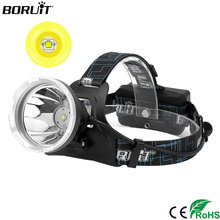 BORUIT Headlamp 10W XML L2 LED Headlight Flashlight Lanterna Bike Front Head Torch Lamp+Charger+2x18650 4000mAh Battery 2017 New