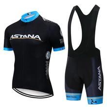 HOT 2020 Team ASTANA Cycling Clothing Set Mens Bicycle Maillot MTB MX ATV Racing Ropa Ciclismo Summer Hombre Roupa Bike Jersey
