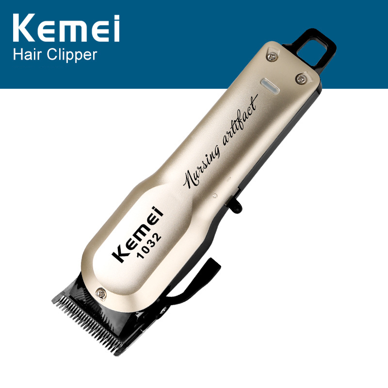 <font><b>Kemei</b></font> KM-<font><b>1032</b></font> Electric Cordless Hair Clipper Rechargeable Hair Beard Trimmer Shaving Razor Cutting Machine with 4 Guide Combs image