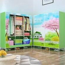 GIANTEX bez gardırop giysi kumaş katlama taşınabilir dolap depolama dolabı yatak odası ev mobilyaları