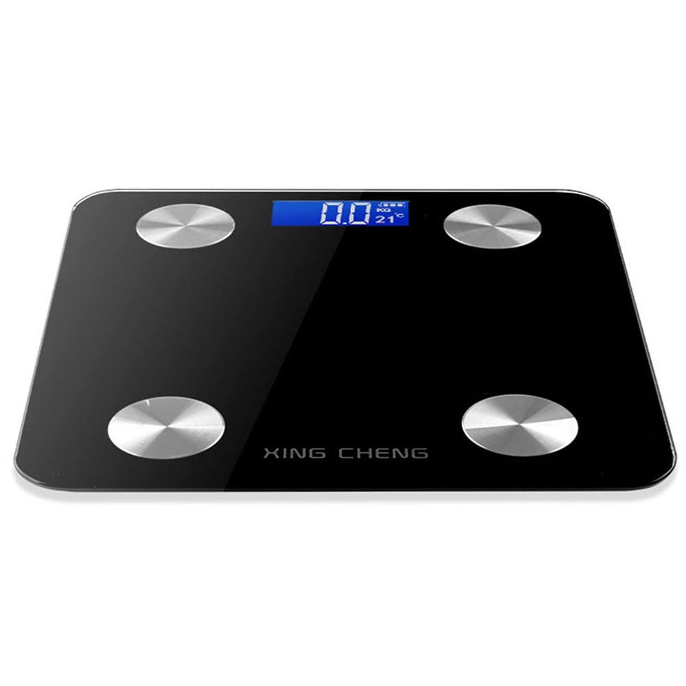 Black Intelligent Body Fat Scale Household Electronic Scale Human Body Weight Scale Human Body Scale
