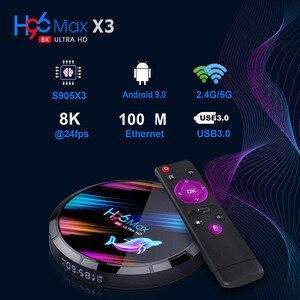 Image 3 - Décodeurs numériques, H96 MAX X3, X96, A95X F3, HK1BOX, boîtier pour smart TV, lecteur réseau 8K HD, streamer Android 9.0 avec processeur S905X3, lot de 5 unités