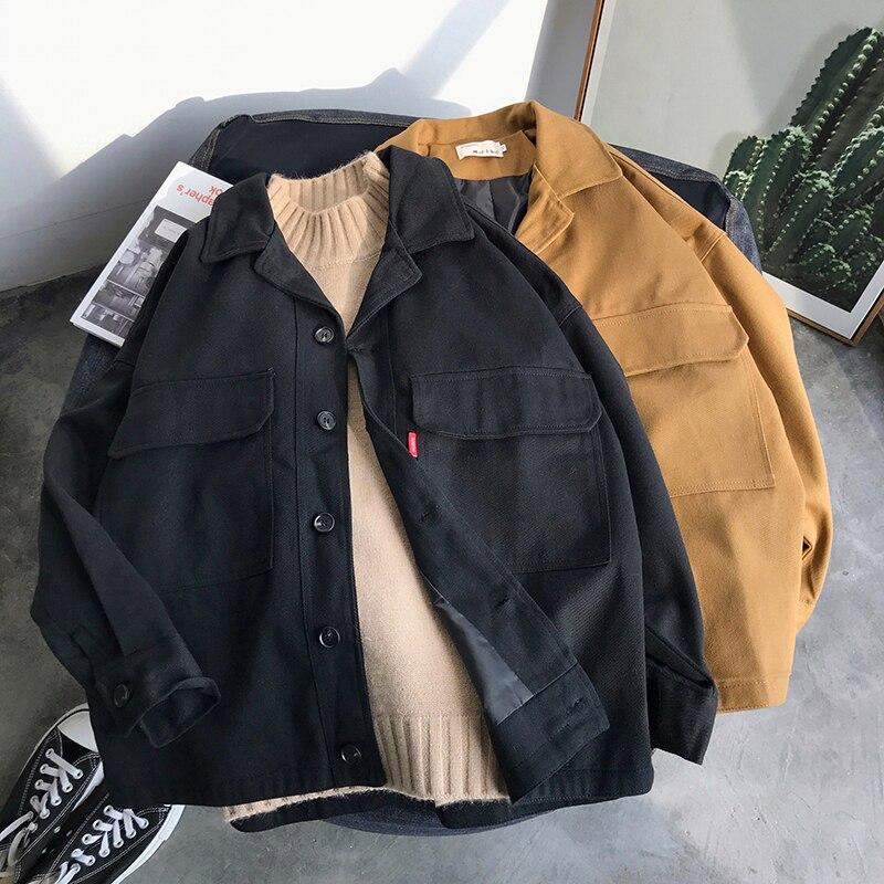 Privathinker Men Summer Pockets Casual Jackets 2020 Mens Harajuku Fashion Loose Jacket Clothes Male Spring Fashion Coats Tops