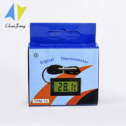 LCD Digital Thermometer Temperature Sensor Temp Meter Thermostat Thermal Regulator Controller 1M Cable Probe TPM-10