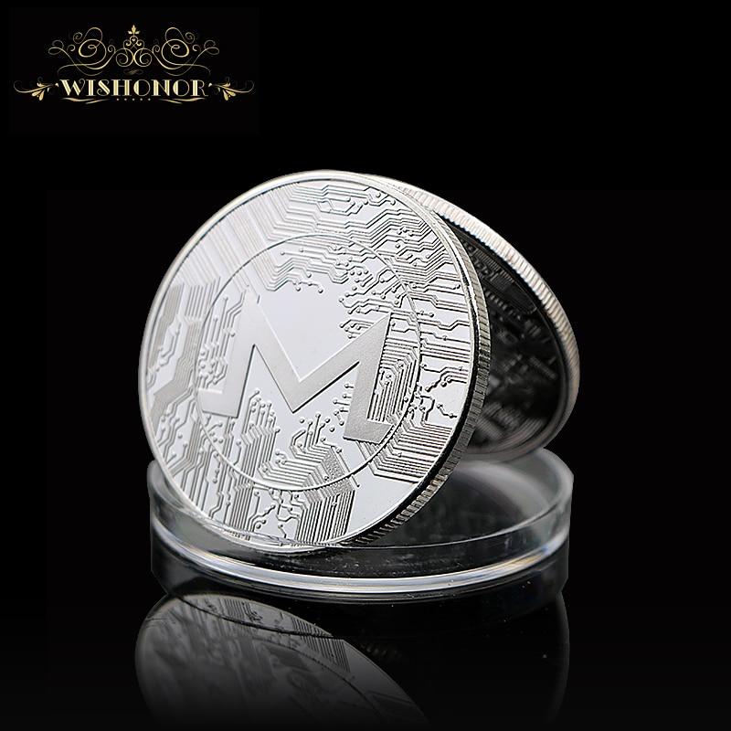 Новинка, крикоин, Биткоин, эфириум, литекоин, Пульсация, монета EOS, металлическая физическая серебряная, позолоченная памятная монета Биткои...