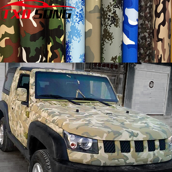 10/20/30/40/50/60x152cm Digital Woodland Green Camo Camouflage Desert Vinyl Film Sticker DIY Motorcycle Automobiles Car Styling image