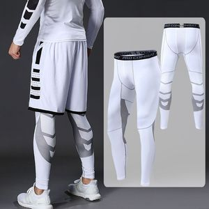 Mens Compression Pants Men Sport Tights Leggings Men's for Running Gym Sports Fitness Quick Dry Fit Joggings Workout White Black