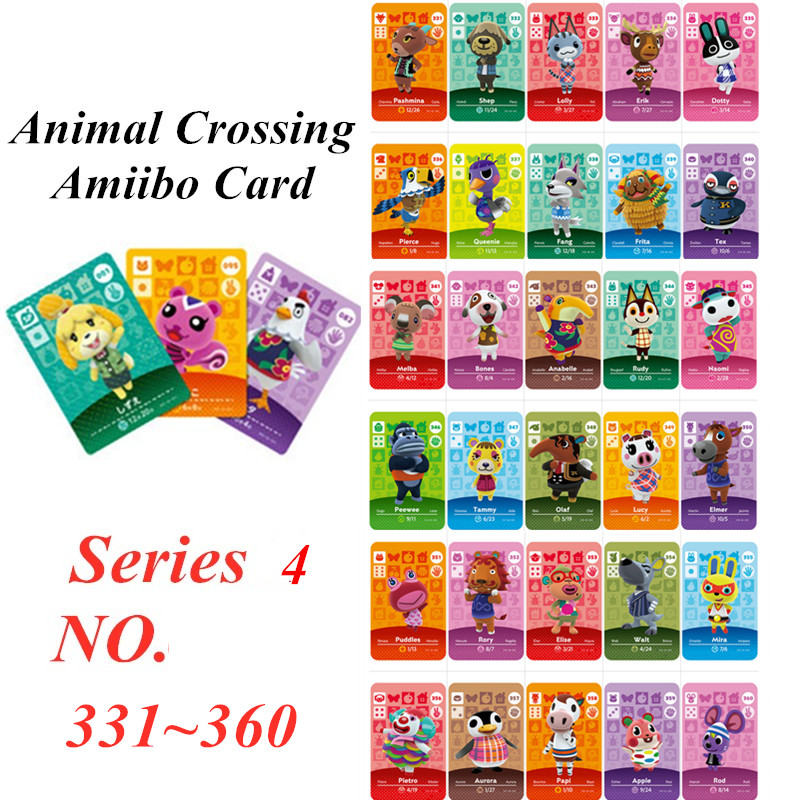 Animal Crossing Card Amiibo NFC Card For Nintendo Switch NS Games Series 4  (331 To 360)
