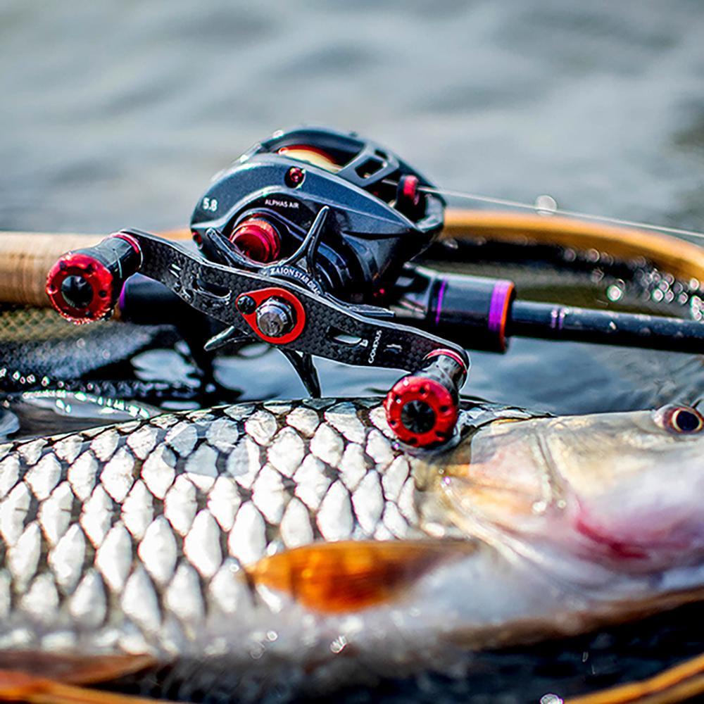Shimano Daiwa Abu Garcia BLUE CORK CARBON FIBER Baitcaster Fishing Reel Handle