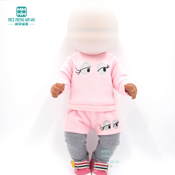 Baby clothes for doll fit 43cm toy new born and american Pink casual suit