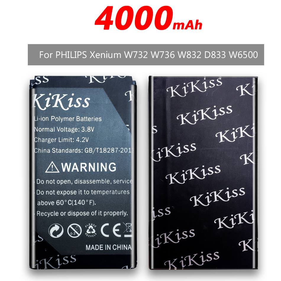 4000mAh Phone Battery for <font><b>Philips</b></font> <font><b>Xenium</b></font> <font><b>E560</b></font> CTE560 E181 E180 CTE181 CTE180 CTE180BK Battery AB3100AWMT AB3100AWMC +Track NO. image