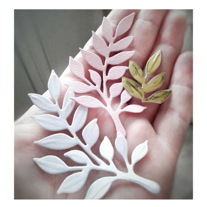 2pc Embossed Leaves Metal Cutting Dies Stencils DIY for Scrapbooking Paper Card Craft Etched Embossing die cuts