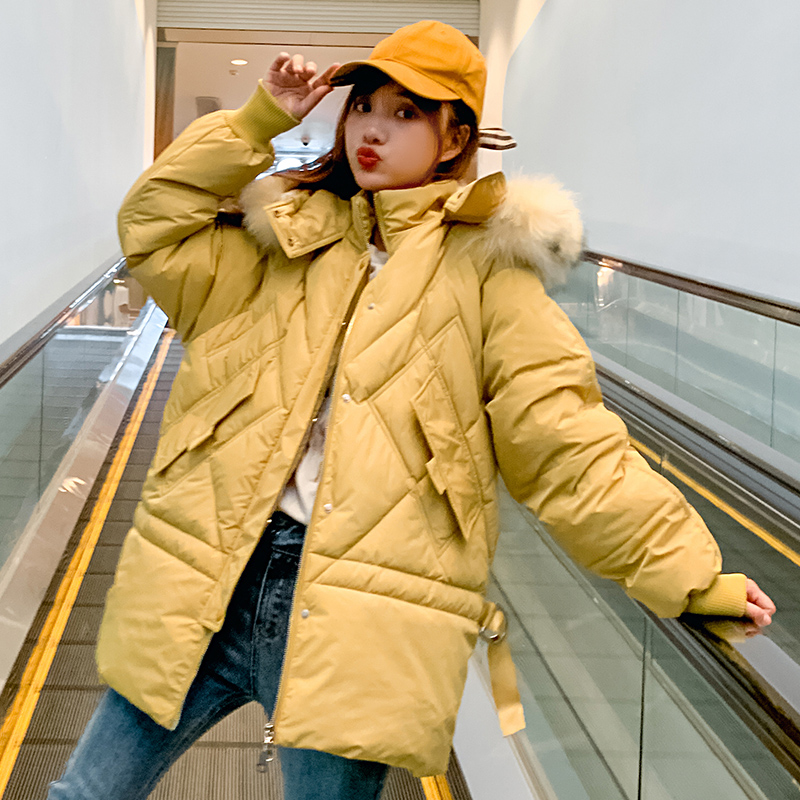 Brieuces Fur Hooded Winter Jacket Women Thick Parka Female Dobby Long Winter Coat Women Down Cotton Lady Wadded Jacket Coat in Parkas from Women 39 s Clothing