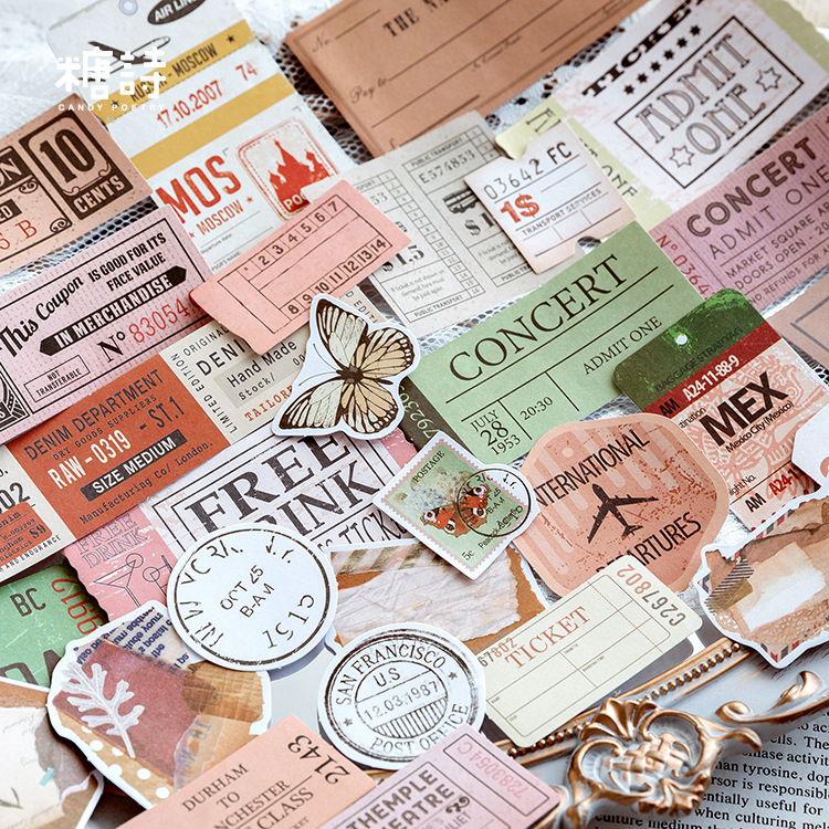 Memory Book Series Sweet Travels Bullet Journal Decorative Stationery Stickers Scrapbooking DIY Diary Album Stick Label