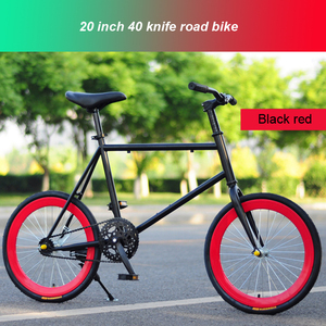 Fixed gear bike 40knife wheel 20inch Track Bike road bicycle for men and women student adult carbon steel light weight road bike