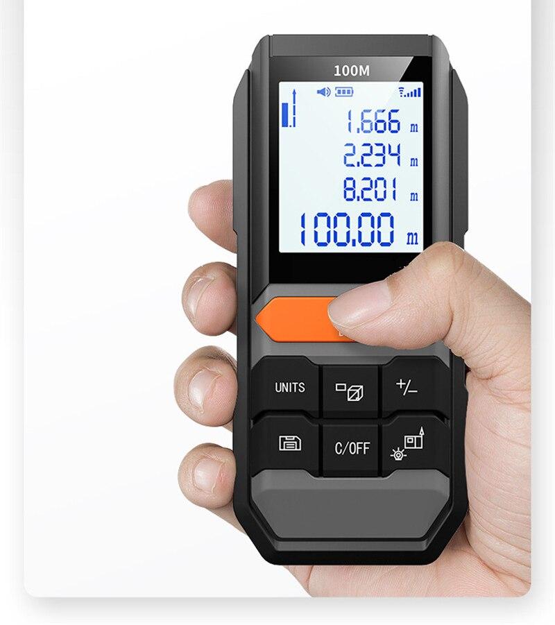 Handhold Laser Rangefinder 40m/60m/80m/100m/120m Digital Laser Distance Meter Electrical Level Tape Laser Distance Measurer New