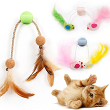 1pcs Pet Cat Feather Interactive Toys Bird Design Suction Wall Toy Window Sucker Accessories