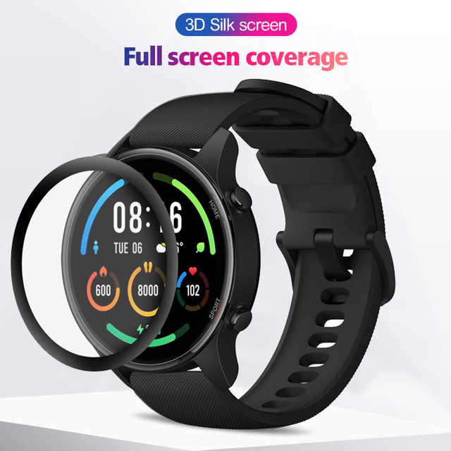 3D מלא מסך מגן עבור Xiaomi Mi שעון צבע ספורט מהדורת XMWTCL01 Xiomi שעון רך מגן סרט לא מזג זכוכית