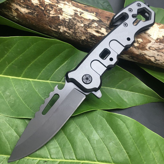 Titanium Ion Multi-function Folding Knife Outdoor Camping Hunting Rescue Window Breaker High Hardness Tactical Folding Knife 1