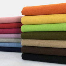 Casa têxtil algodão linho tecido estofamento pano cor sólida para a cobertura do sofá, cortina, coxim, diy preto, marinha, cinza, verde