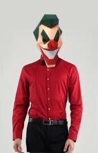 Бумажная маска 3d Джокер фотобумага для рукоделия Рождественский