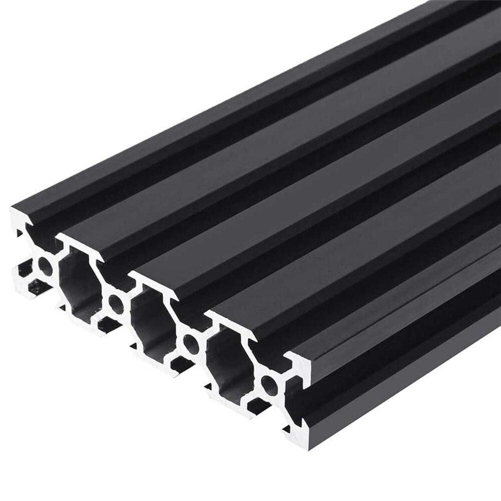 Marco de extrusión de perfil de aluminio de alta calidad y duradero de 100-200mm negro con ranura en V de 2080mm para impresoras 3D de herramientas de grabado CNC DIY