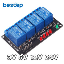 1PCS New 24V 4 Channel Relay Module Shield for Arduino ARM PIC AVR DSP Electronic