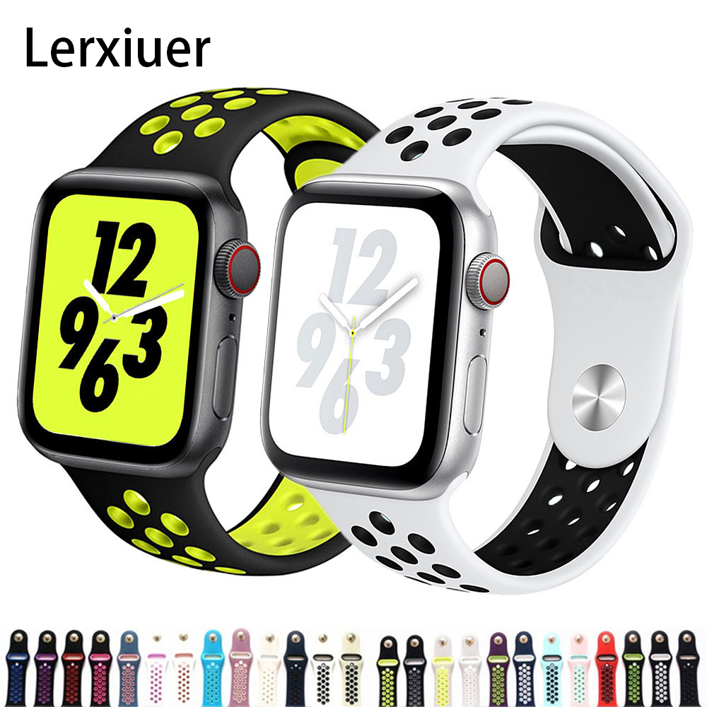 Strap For Apple Watch Band 44mm 40mm Apple Watch 5 4 3 2 Iwatch Band 42mm 38mm Sport Silicone Correa Bracelet Watch Accessories