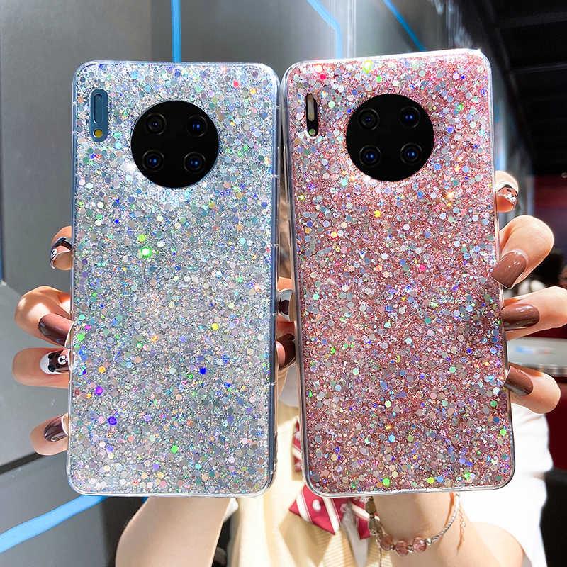 Telefon Fall Für Huawei P30 Pro P10 Plus P20 Lite P8 P9 2017 Mate 30 10 ehre 8 lite mate 20 lite Weiche Silikon Glitter Fall abdeckung