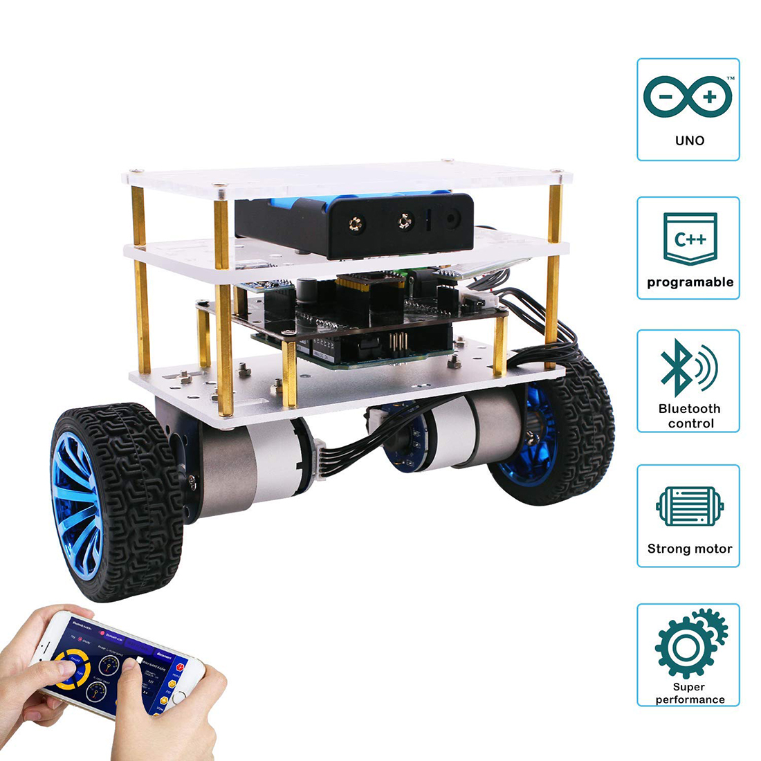Balance Robot Car Compatible With Arduino Electronics Programmable Kit Education Robotics Support C Language For Kids And Adult