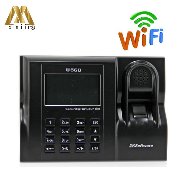 Hot Sale Linux System Biometric Time Clock ZK U560 Fingerprint Time Attendance Machine With Wifi