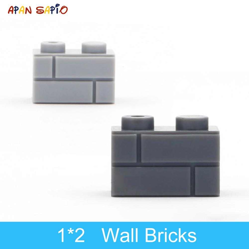 DIY Building Blocks Wall Figures Bricks 1x2 Dots 50/100PCS Educational Creative Toys for Children Size Compatible With 98283