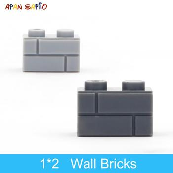 DIY Building Blocks Wall Figures Bricks 1x2 Dots 50/100PCS Educational Creative Toys for Children Size Compatible With lego